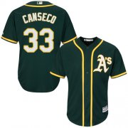 Wholesale Cheap Athletics #33 Jose Canseco Green Cool Base Stitched Youth MLB Jersey