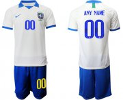 Wholesale Cheap Brazil Personalized White Soccer Country Jersey