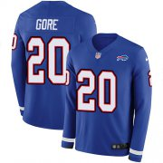 Wholesale Cheap Nike Bills #20 Frank Gore Royal Blue Team Color Men's Stitched NFL Limited Therma Long Sleeve Jersey