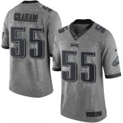 Wholesale Cheap Nike Eagles #55 Brandon Graham Gray Men's Stitched NFL Limited Gridiron Gray Jersey