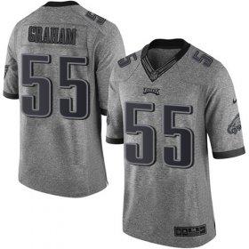 Wholesale Cheap Nike Eagles #55 Brandon Graham Gray Men\'s Stitched NFL Limited Gridiron Gray Jersey