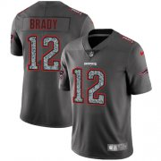 Wholesale Cheap Nike Patriots #12 Tom Brady Gray Static Youth Stitched NFL Vapor Untouchable Limited Jersey