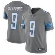 Wholesale Cheap Nike Lions #9 Matthew Stafford Gray Men's Stitched NFL Limited Rush Jersey