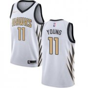 Wholesale Cheap Men's Nike Atlanta Hawks #11 Trae Young White NBA City Edition Jersey