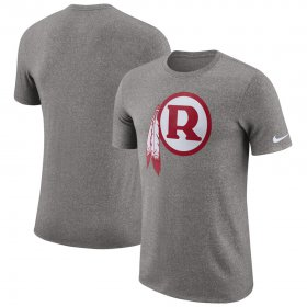Wholesale Cheap Washington Redskins Nike Marled Historic Logo Performance T-Shirt Heathered Gray