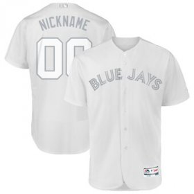 Wholesale Cheap Toronto Blue Jays Majestic 2019 Players\' Weekend Flex Base Authentic Roster Custom Jersey White