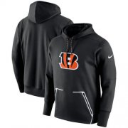 Wholesale Cheap Men's Cincinnati Bengals Nike Black Champ Drive Vapor Speed Performance Pullover Hoodie