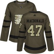 Wholesale Cheap Adidas Flyers #47 Andrew MacDonald Green Salute to Service Women's Stitched NHL Jersey