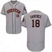 Wholesale Cheap Astros #18 Aaron Sanchez Grey Flexbase Authentic Collection Stitched MLB Jersey
