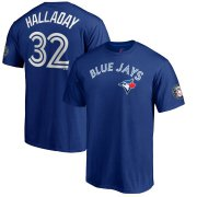Wholesale Cheap Toronto Blue Jays #32 Roy Halladay 2019 Hall of Fame Name & Number T-Shirt Royal