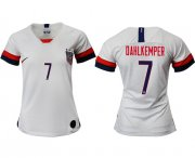 Wholesale Cheap Women's USA #7 Dahlkemper Home Soccer Country Jersey