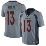 Wholesale Cheap Nike Broncos #13 KJ Hamler Gray Youth Stitched NFL Limited Inverted Legend Jersey