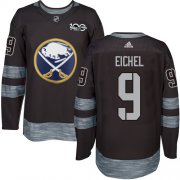 Wholesale Cheap Adidas Sabres #9 Jack Eichel Black 1917-2017 100th Anniversary Stitched NHL Jersey