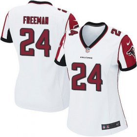 Wholesale Cheap Nike Falcons #24 Devonta Freeman White Women\'s Stitched NFL Elite Jersey