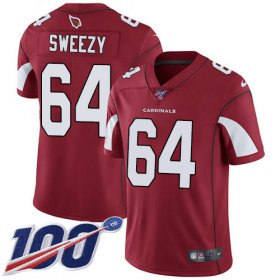 Wholesale Cheap Nike Cardinals #64 J.R. Sweezy Red Team Color Men\'s Stitched NFL 100th Season Vapor Limited Jersey