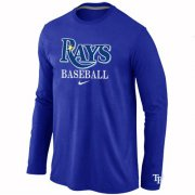 Wholesale Cheap Tampa Bay Rays Long Sleeve MLB T-Shirt Blue