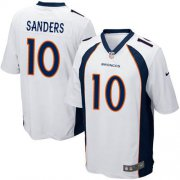 Wholesale Cheap Nike Broncos #10 Emmanuel Sanders White Youth Stitched NFL New Elite Jersey