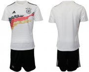 Wholesale Cheap Germany Blank White Home Soccer Country Jersey