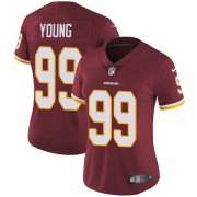 Wholesale Cheap Nike Redskins #99 Chase Young Burgundy Red Team Color Women's Stitched NFL Vapor Untouchable Limited Jersey