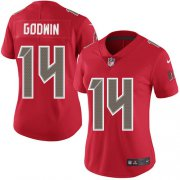 Wholesale Cheap Nike Buccaneers #14 Chris Godwin Red Women's Stitched NFL Limited Rush Jersey