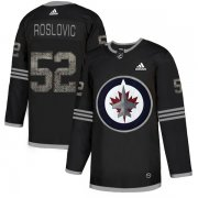 Wholesale Cheap Adidas Jets #52 Jack Roslovic Black Authentic Classic Stitched NHL Jersey