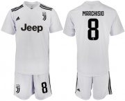Wholesale Cheap Juventus #8 Marchisio White Soccer Club Jersey