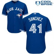Wholesale Cheap Blue Jays #41 Aaron Sanchez Blue Cool Base Stitched Youth MLB Jersey