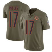 Wholesale Cheap Nike Bears #17 Anthony Miller Olive Men's Stitched NFL Limited 2017 Salute To Service Jersey