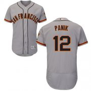 Wholesale Cheap Giants #12 Joe Panik Grey Flexbase Authentic Collection Road Stitched MLB Jersey