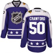 Wholesale Cheap Blackhawks #50 Corey Crawford Purple 2017 All-Star Central Division Women's Stitched NHL Jersey