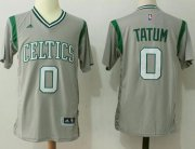Wholesale Cheap Boston Celtics #0 Jayson Tatum Gray Pride Stitched NBA Jersey