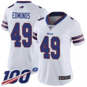 Wholesale Cheap Nike Bills #49 Tremaine Edmunds White Women's Stitched NFL 100th Season Vapor Limited Jersey