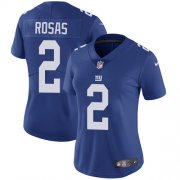 Wholesale Cheap Nike Giants #2 Aldrick Rosas Royal Blue Team Color Women's Stitched NFL Vapor Untouchable Limited Jersey