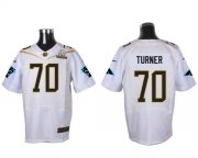Wholesale Nike Panthers #70 Trai Turner White 2016 Pro Bowl Men's Stitched NFL Elite Jersey