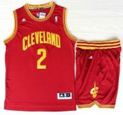 Wholesale Cheap Cleveland Cavaliers 2 Kyrie Irving Red Revolution 30 Swingman Jerseys Shorts NBA Suits
