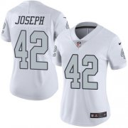 Wholesale Cheap Nike Raiders #42 Karl Joseph White Women's Stitched NFL Limited Rush Jersey