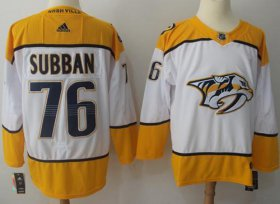 Wholesale Cheap Adidas Predators #76 P.K Subban White Road Authentic Stitched NHL Jersey