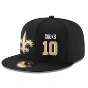 Wholesale Cheap New Orleans Saints #10 Brandin Cooks Snapback Cap NFL Player Black with Gold Number Stitched Hat
