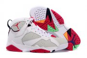 Wholesale Cheap Air Jordan 7 hare Shoes White/Grey-Infrared
