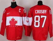 Wholesale Cheap Olympic 2014 CA. #87 Sidney Crosby Red Stitched NHL Jersey