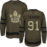 Wholesale Cheap Adidas Maple Leafs #91 John Tavares Green Salute to Service Stitched NHL Jersey