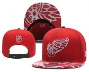 Wholesale Cheap Detroit Red Wings Snapback Ajustable Cap Hat YD