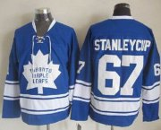 Wholesale Cheap Maple Leafs #67 Stanley Cup Blue CCM Throwback Stitched NHL Jersey
