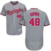 Wholesale Cheap Nationals #48 Javy Guerra Grey Flexbase Authentic Collection Stitched MLB Jersey