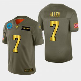 Wholesale Cheap Carolina Panthers #7 Kyle Allen Men\'s Nike Olive Gold 2019 Salute to Service Limited NFL 100 Jersey
