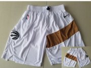 Wholesale Cheap Men's Toronto Raptors White Nike Swingman Shorts