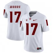 Wholesale Cheap Washington State Cougars 17 Kassidy Woods White College Football Jersey