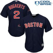 Wholesale Cheap Red Sox #2 Xander Bogaerts Navy Blue Cool Base 2018 World Series Champions Stitched Youth MLB Jersey