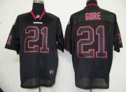 Wholesale Cheap 49ers #21 Frank Gore Lights Out Black Stitched NFL Jersey