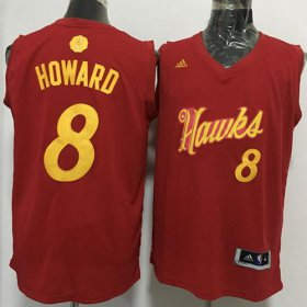 Wholesale Cheap Men\'s Atlanta Hawks #8 Dwight Howard adidas Red 2016 Christmas Day Stitched NBA Swingman Jersey
